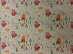 PEPPA PIG FRIENDS - ADVENTURE HAPPY FOREST - Fabric 100% Cotton - Price Per Metre